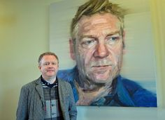 New portrait of Sir Kenneth Branagh by Bangor artist Colin Davidson unveiled at the Lyric Colin Davidson, Portrait Art, Portraits, Kenneth Branagh, Artist At Work, Contemporary Artists, Masters, Pantry, Black And White