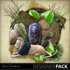 MyMemories digital scrapbooking kits - Whispers of Africa-(LinsCre) Digital Scrapbooking, Garden Sculpture, Africa, Display, Christmas Ornaments, Country, Store, Holiday Decor, Outdoor Decor