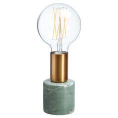 Tafellamp groen met marmer look. Grote fitting E27. #tafellamp #kwantumstijl