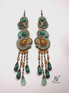 Soutache earrings Semiramis by AnnetaValious on Etsy, $165.00