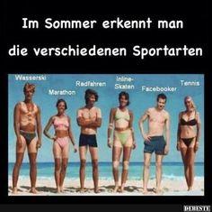 Im Sommer erkennt man die verschieden Sportarten..