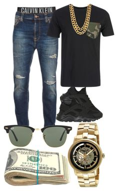 """"""""""" by foreverkaylah ❤ liked on Polyvore featuring Calvin Klein Underwear, NIKE, Nudie Jeans Co., Carhartt, Kenneth Cole, Ray-Ban, men's fashion and menswear"""