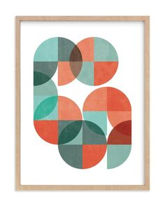 """""""Division Series 04"""" - Art Print by Jennifer Morehead in beautiful frame options and a variety of sizes."""