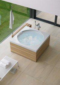 Baignoire carrée, Duravit «Blue moon» - Déco de salle de bains, aménager sa…