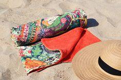 Unique beach towel / Cotton beach towel / Pool towel /