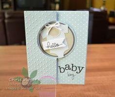 Hello Baby Boy by Chris Slogar - Cards and Paper Crafts at Splitcoaststampers
