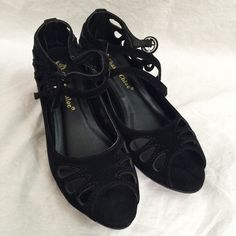Chase & Chloe Bobby Wedge Sandal Lightly used in original box. Retail $50. Dual buckle straps collaborate to close this pair with an adjustable fit, while the wedge heel offers a boost of height for high-stepping style. Chase & Chloe Shoes Sandals
