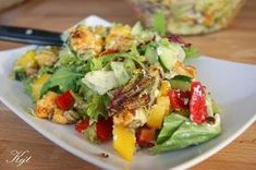 Salad Recipes, Healthy Recipes, Polish Recipes, Cobb Salad, Potato Salad, Grilling, Food Porn, Food And Drink, Favorite Recipes