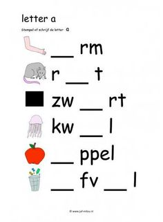 Grade R Worksheets, Phonics Worksheets, School Worksheets, Afrikaans Language, Letter School, Learn Dutch, Dutch Language, Preschool Activities, Kids Learning