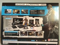 Watch Dogs DedSec Edition box behind.