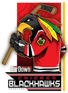 Our good friend #EPoole88 (Eric Poole) is getting ready for the upcoming season with cartoon renderings of each team. This is the Chicago Blackhawks. #TSN #BarDown