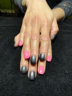 Over the Knee & Hot Pink Gel Nails! :)