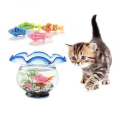 Simulation Fish Funny Cat Toy Activated Battery-Powered Robo Fish Water Robotic Swimming Fish Keep Your Cats Entertained Robo Fish, Fish Cat Toy, Simulation, Interactive Toys, Fishing Humor, Anniversary Sale, Cat Toys, Funny Cats, Swimming