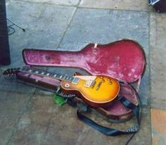 The Holy Grail of Les Paul guitars, the Jimmy Page no1  (from Joe Walsh). Melbourne Australia, February 1972...
