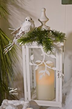 A Peaceful Mantel - Cottage at the Crossroads <br> A Christmas mantel with an emphasis on peace Christmas Lanterns Diy, Noel Christmas, Christmas Centerpieces, Outdoor Christmas, Country Christmas, Xmas Decorations, Winter Christmas, All Things Christmas, Vintage Christmas