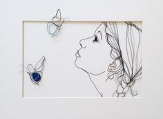 sculptural drawing by christina james nielsen: October deze en nog veel meer. Sculptures Sur Fil, Art Sculpture, Metal Wall Sculpture, Wire Hanger Crafts, Wire Crafts, 3d Doodle Pen, Boli 3d, Stylo 3d, Wire Drawing