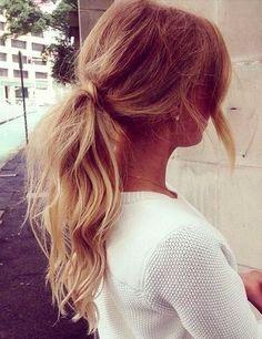 teased ponytails