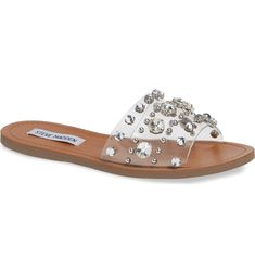 b0ff28162e9 Free shipping and returns on Steve Madden Regent Embellished Slide Sandal  (Women) at Nordstrom