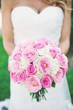 Pink rose & hydrangea bouquet
