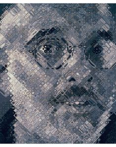 Chuck Close, Mark, 1997  oil on canvas  102 x 84 in. (259.1 x 213.4 cm)