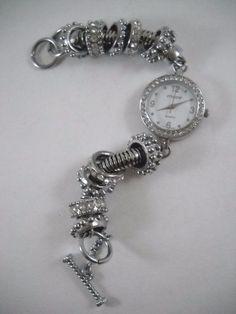 #Designer #CHICOs #Rhinestone & #Silver #Watch #Wristwatch EUC & Working! #Jewelry #Jewellery