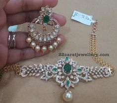 2 in 1 Choker Cum Armband with Chandbalis - Jewellery Designs