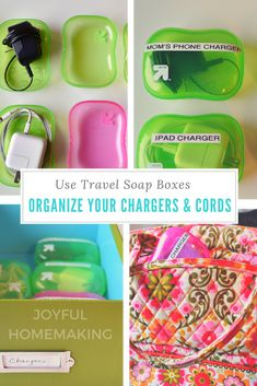 Organize Your Chargers and Cords - Joyful Homemaking