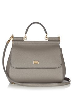 DOLCE & GABBANA Sicily Small Leather Tote.