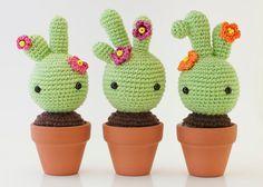 Patrón amigurumi cactus...free cactus pattern in spanish.