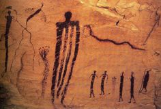 ancient alien cave paintings | look at this this is an ancient cave painting from about 5000 bc but ...