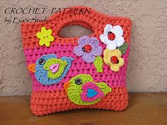 This cute little bag / purse is just the right size for a little girl's hand..A lovely project for Mother, Daughter, Sister or just girls! Great for birthday's or makes a great photo prop.