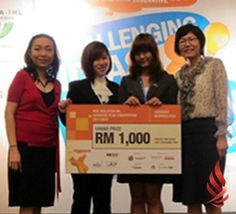 """MIBPC (Malaysian IHL Business Plan Competition) Awards 2012, Shopping to Success! It was an exciting moment for the UCSI University team, """"Sparklets"""" when they bagged the merit prize for their business idea during a recently held MSC Malaysia-IHL Business Plan Competition 2012 (MIBPC). This prestigious event is the 8th edition hosted by MSC Malaysia, which was launched with the intention of growing brilliant ideas for the ICT and multimedia business into technopreneurial feats. Rm 1, Business Planning, Multimedia, Competition, Awards, University, Product Launch, Success, Student"""