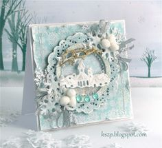 Frosty card with a shaker box! - Klaudia / Kszp