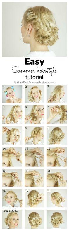nice Sommer Frisur Tutorial + Sommer Haarpflege-Tipps Check more at http://frisuren-haarstyle.com/sommer-frisur-tutorial-sommer-haarpflege-tipps/