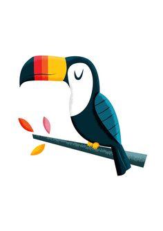 Toucan Art Print by Lets Print Stuff