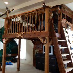 Indoor Tree House Design with bridge | Kids space | Pinterest ...