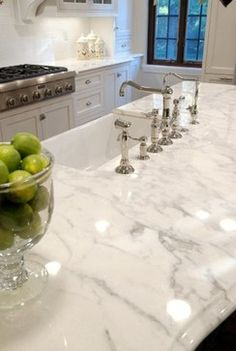 Calacatta Marble Counter Tops - - kitchen countertops - other metro - by Custom Marble & Granite