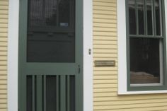 Red River Restorations specializes in the creation, replacement, and restoration of screen doors Custom Screen Doors, Wooden Screen Door, Window Screens, Grill Design, Wood Windows, Red River, Entry Doors, Facade, Restoration