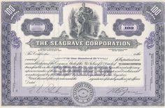 Seagrave stock certificate - firetruck maker