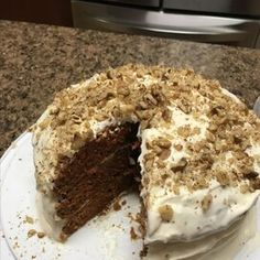 A Plus Carrot Cake Best Carrot Cake Ever Recipe, Tomato Soup Cake, Bacon Wrapped Water Chestnuts, 10 Inch Cake, Cream Cheese Frosting, Cake Pans, Baking Pans, Cake Recipes, Carrots