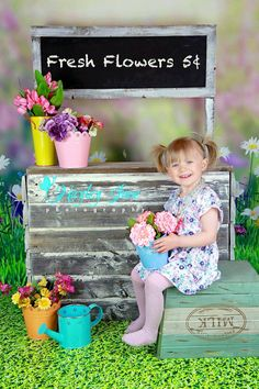 A little cutie from her Easter mini session. Easter, Spring, Easter mini session, mini session, mini session ideas, Spring photo, flowers, floral, flower shop, photo props, baby photo, child photo, Spring mini session, Calgary kids, Calgary photographer, YYC photographer