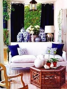 Blue and White Room - Love