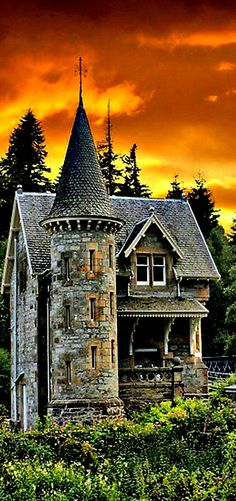 "Gatehouse to Ardverickie Estate next to Loch Laggen,  Scotland.  "" Monarch of the Glen"" was filmed here."