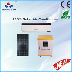 1ton solar air conditioner split system solar air conditioners solar cooling ac