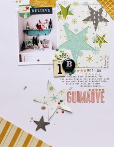 #Papercraft #Scrapbook #Layout. Guimauve with October Afternoon