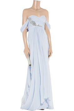 Marchesa Embellished silk-chiffon gown...DEFINITELY out of my budget,but so wonderful...
