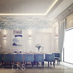 Dining room design • by IONS DESIGN