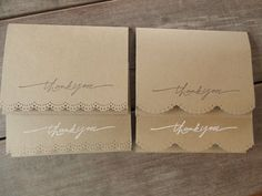4 Rustic Thank You Cards-Rustic Wedding Thank You Card-Lace