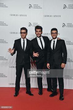 Fotografía de noticias : Voclals Band il Volo attend the Milano Gala...