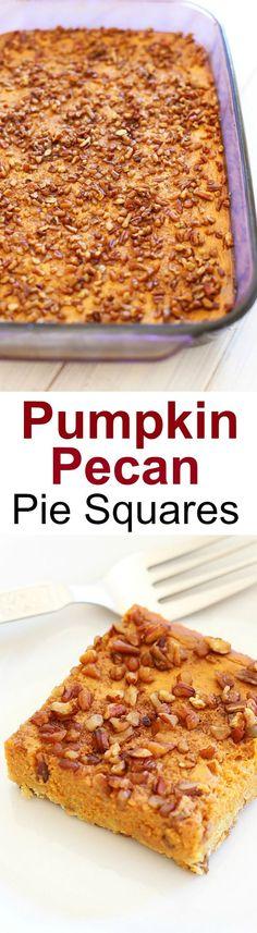 Pumpkin Pecan Pie Squares – sweet, nutty, crumbly pumpkin dessert ...